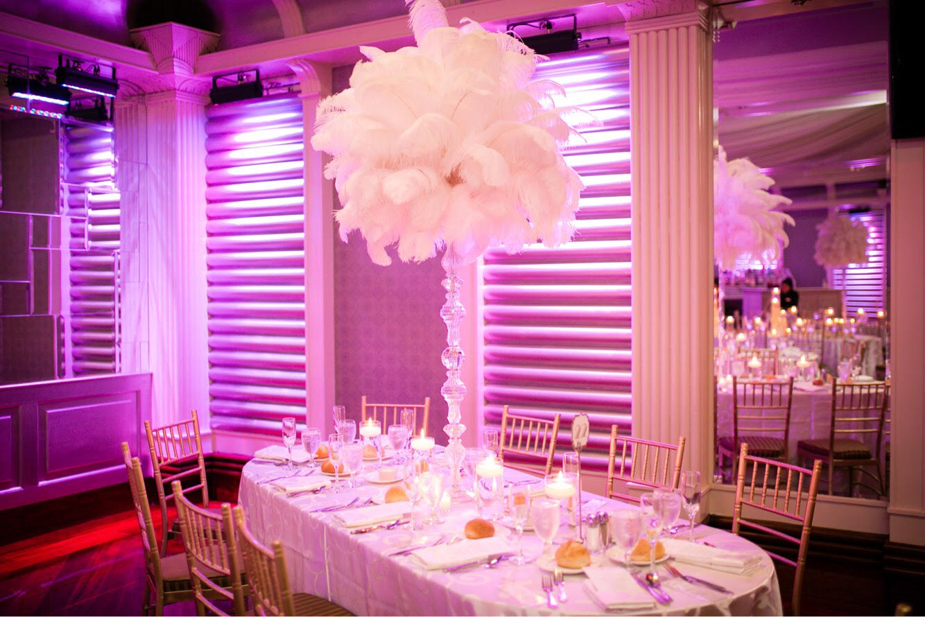 Ostrich feather centerpiece rental weddings sweet