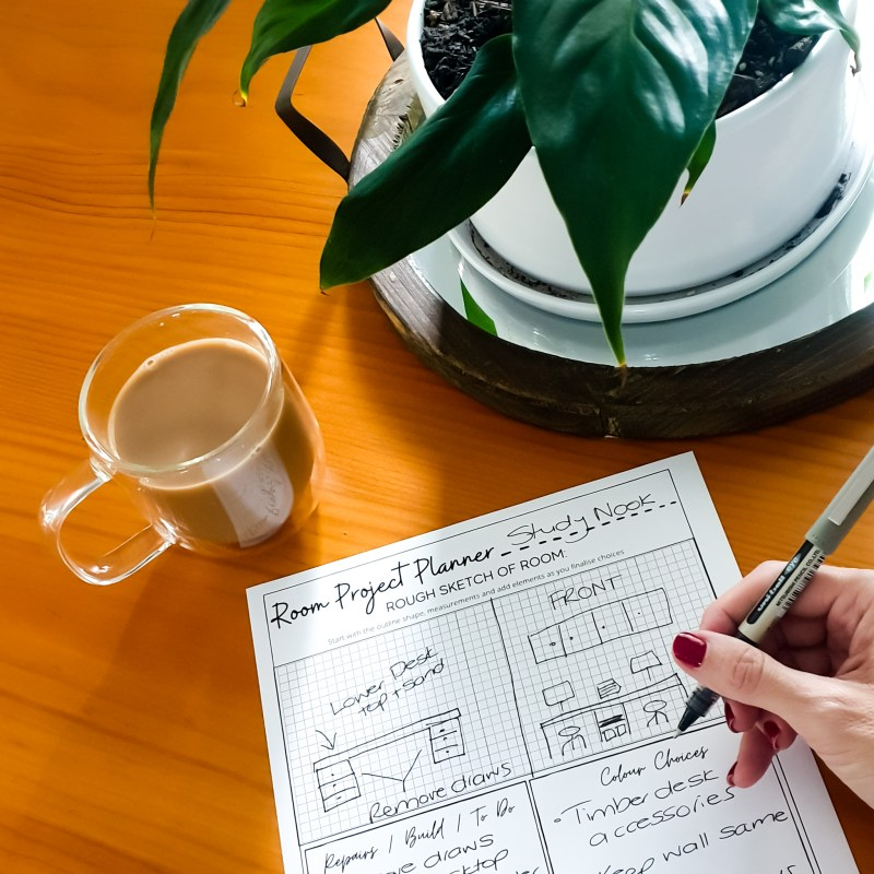Room Project Planner Printable Worksheet