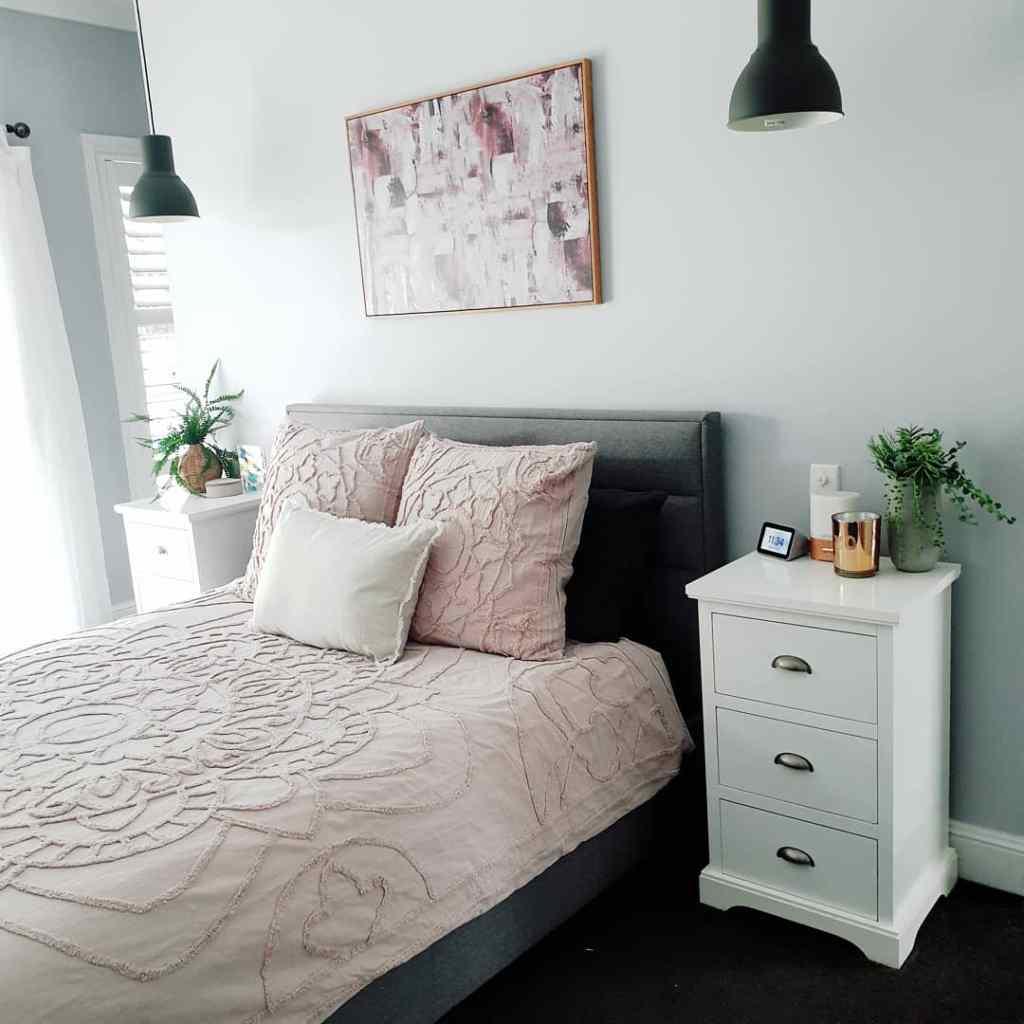 Blush Bedroom Bedding Room Makeover
