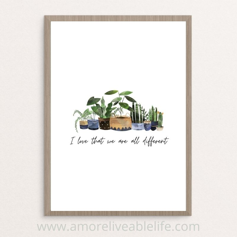 We Are All Different Printable Wall Art