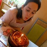 Käsekuchen di compleanno alle fragole