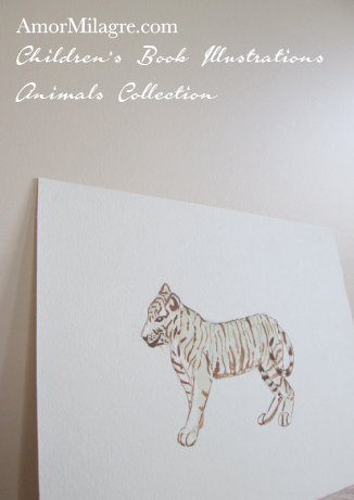 Children's Book Illustrations Animals White Bengal Tiger Amor Milagre amormilagre.com