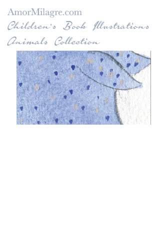 Amor Milagre Children's Book Animals Illustrations Blue Polka Dot Pig 2 nursery amormilagre.com