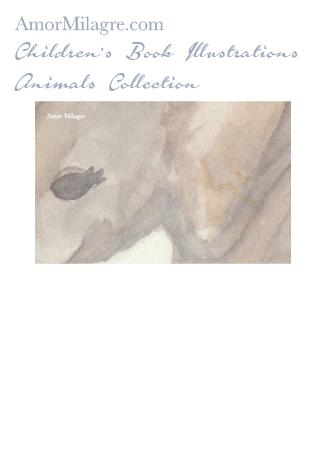 Amor Milagre Children's Book Animals Illustrations The Baby Elephant 2 nursery amormilagre.com