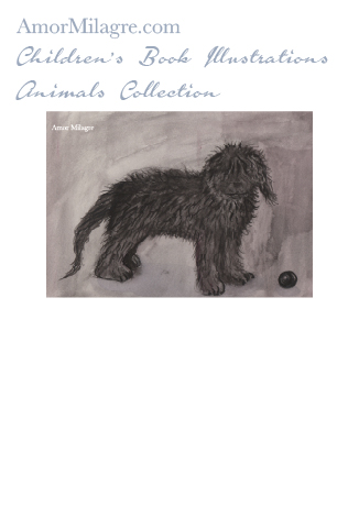Amor Milagre Children's Book Animals Illustrations The Chocolate Labradoodle Dog 1 nursery amormilagre.com