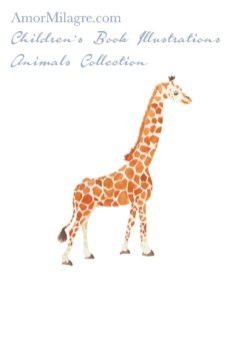Amor Milagre Children's Book Animals Illustrations The Giraffe 1 nursery amormilagre.com