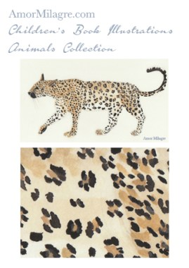 Amor Milagre Children's Book Animals Illustrations The Leopard beautiful artwork for all ages and spaces, especially in a nursery amormilagre.com
