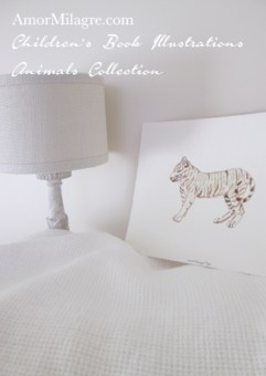 Amor Milagre Children's Book Illustrations Animals White Bengal Tiger amormilagre.com