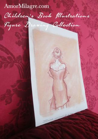Amor Milagre Children's Book Illustrations Woman after a Bath detail 7 amormilagre.com