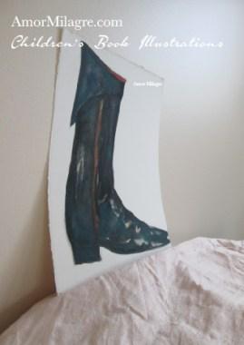 Amor Milagre Fashion & Shoe Design Children's Book Illustrations Shoe Design Book Moliere Boot Black Leather Shoe Design amormilagre.com