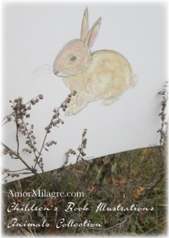 Amor Milagre Watercolor Golden Easter Bunny Rabbit The Shop at Dove Cottage Children's Book Illustrations beautiful for all spaces and ages, especially in a nursery amormilagre.com