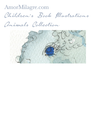 Children's Book Illustrations Animals The Squiggly Blue Elephant 2 Amor Milagre amormilagre.com