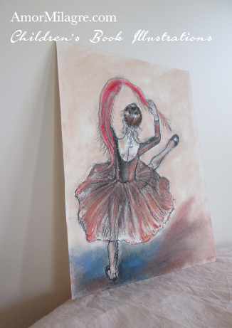 Gypsy Ballet Dancer Original Children's Book Illustrations Sage Dances Ballet The Chronicles of Sage Rose Sorrel by Amor Milagre amormilagre.com
