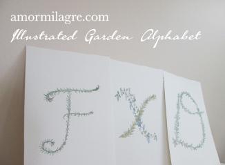 Illustrated Garden Alphabet Letter FXD Amor Milagre amormilagre.com