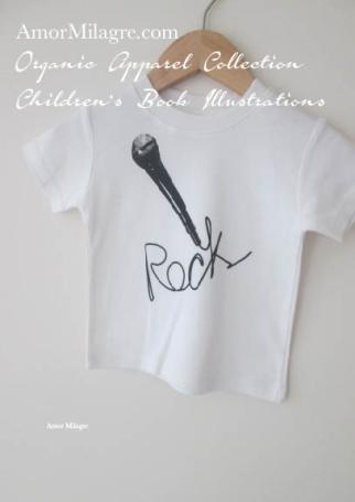 Amor Milagre Black Rock Microphone Singer Musician Halloween Organic Cotton Toddler Graphic Tee Shirt Collection Children's Book Unisex amormilagre.com baby