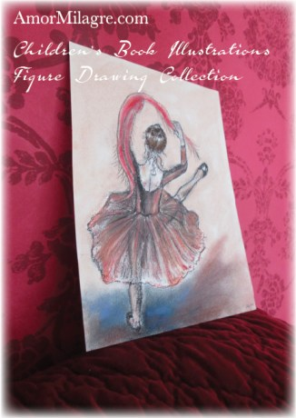 Amor Milagre Gypsy Ballet Dancer The Shop at Dove Cottage Children's Book Illustrations beautiful for all spaces and ages, especially in a nursery amormilagre.com