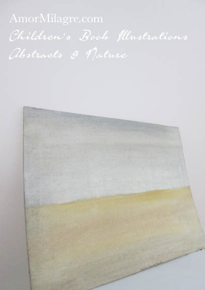 Amor Milagre 1 Golden Sands Color Nature Paintings Watercolor Abstract The Shop at Dove Cottage Children's Book Illustrations beautiful for all spaces ages, nursery amormilagre.com