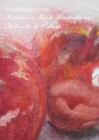 Amor Milagre Two of Us 1 red apples still life Color Nature Paintings Watercolor Abstract The Shop at Dove Cottage Children's Book Illustrations beautiful for all spaces ages, nursery amormilagre.com