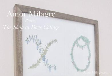 Amor Milagre XO Illustrated Garden Alphabet Letters Nursery Garden The Shop at Dove Cottage Art & Design amormilagre.com