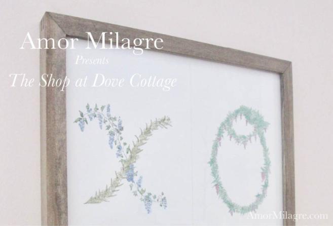 Amor Milagre XO Illustrated Garden Alphabet Letters Nursery Garden The Shop at Dove Cottage Art & Design amormilagre.com
