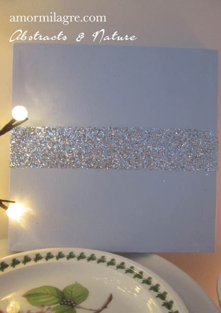 Amor Milagre Baby Blue Silver Glitter Nursery Painting 1 Baby & Child original artwork amormilagre.com