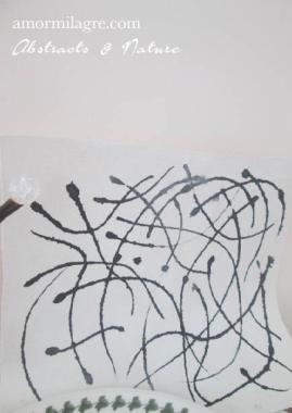 Amor Milagre Dance India Ink 1 Canvas Black and White Nursery Painting 1 Baby & Child original artwork amormilagre.com