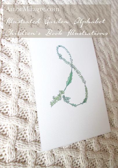 Amor Milagre Illustrated Garden Alphabet Letter S amormilagre.com