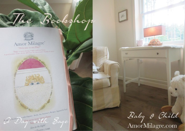Amor Milagre Presents The Ethical Bookshop A Day with Sage handmade original children's books amormilagre.com