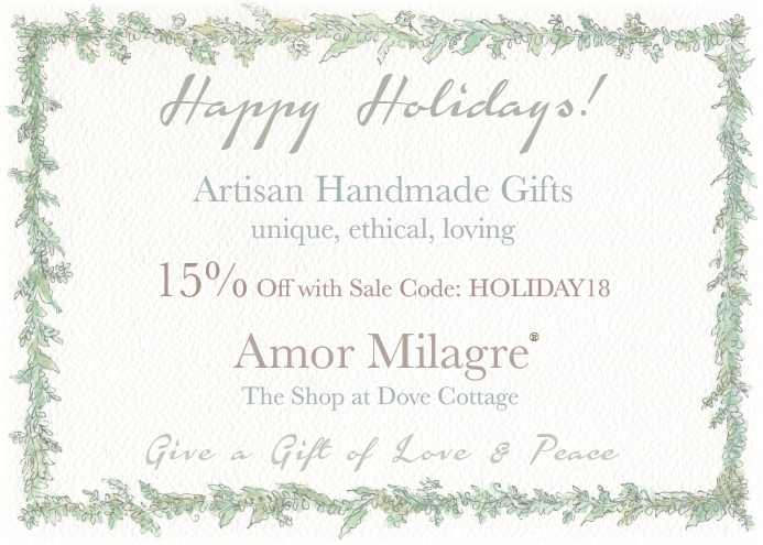 Amor Milagre Holiday Sale 2018 Artisan handmade Gifts Baby & Child Collection Art Design Books Organic Apparel Organic Cotton Toddler Tees Nursery Watercolor Paintings amormilagre.com