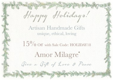 Amor Milagre Holiday Sale 2018 Artisan handmade Gifts Baby & Child Collection Art Design Books Organic Apparel Organic Cotton Toddler Tees Nursery Watercolor Paintings children's books, healthy lifestyle vlog blog amormilagre.com