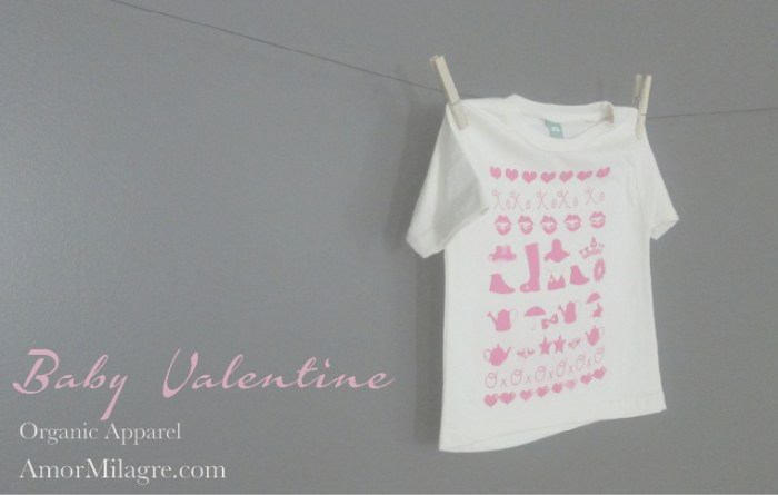 Amor Milagre Baby Valentine Art Print Sale 2019 toddler tee pink girls Organic Ethical Vegan Gifts Baby & Child Olive alphabet letters custom amormilagre.com