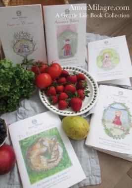 Amor Milagre Presents A Gentle Life Book Collection ethical organic original children's book amormilagre.com nursery bookshop bunny vegetables vegan children's books