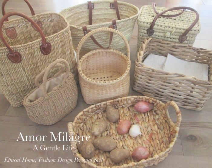 Amor Milagre A-Tisket A-Tasket Baskets Home Decor Interior Design Spring Ethical Organic Apparel Collection 2019 toddler Handmade Gift Shop Art Apparel Vegan Baby & Child Easter amormilagre.com