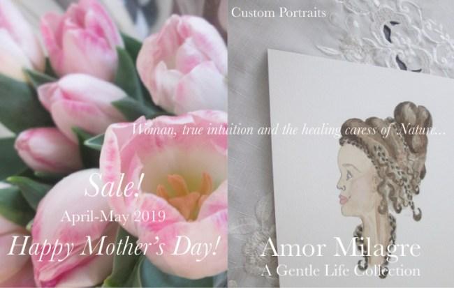 Amor Milagre 2019 Mother's Day Sale Spring Ethical Organic Gift Shop Handmade Gift Shop Art Vegan Baby & Child Woman feminist tulips braided hair portrait amormilagre.com