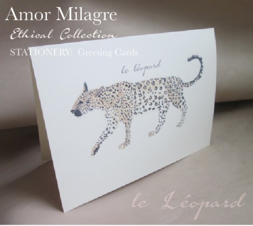 Amor Milagre Ethical Leopard Romantic Stationery Collection & Sets amormilagre.com Paperie sustainable paper greeting cards