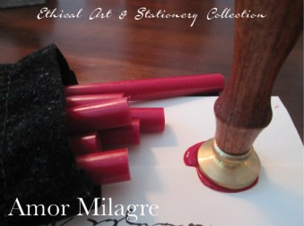 Amor Milagre Ethical Romantic Stationery Collection & Sets amormilagre.com Paperie personalized red wax seal