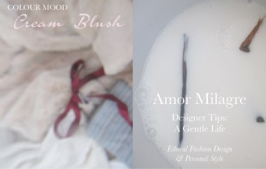 Amor Milagre Spring Fashion Personal Style 2019 Cream Blush Pink custom colour mood Ethical Handmade Gift Shop Art Apparel Organic Vegan Women's design amormilagre.com