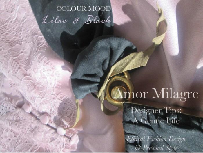 Amor Milagre Spring Fashion Personal Style 2019 Lilac Purple & black vintage 40's handbag colour mood Ethical Handmade Gift Shop Art Organic Women's amormilagre.com