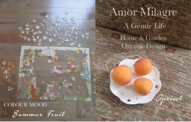 Amor Milagre Summer Fruit Apricot Colour Mood Organic Home & Garden 2019 Upholstered Chairs Tapestry Puzzle Ethical Handmade Gift Shop Art Apparel Organic Vegan Baby & Child design amormilagre.com