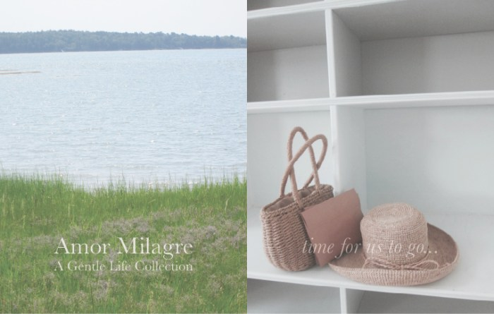 Amor Milagre Colour Mood Late Summer Days Thank you, Summer 2019 Ethical Organic Gift Shop Handmade Gift Shop Art Baby & Child grass beach ocean basket purse letter bookshelf amormilagre.com