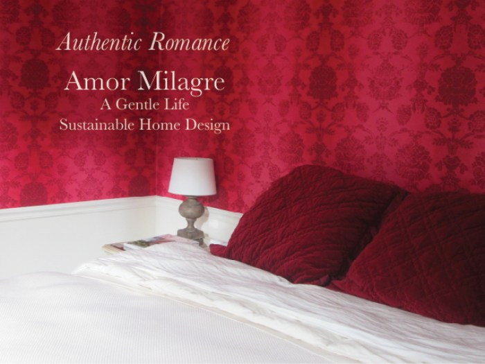 Amor Milagre Custom Built Home 1 Interior Design Moments Goodnight, Dove Cottage 2019 Ethical red wallpaper bedroom boheme amormilagre.com