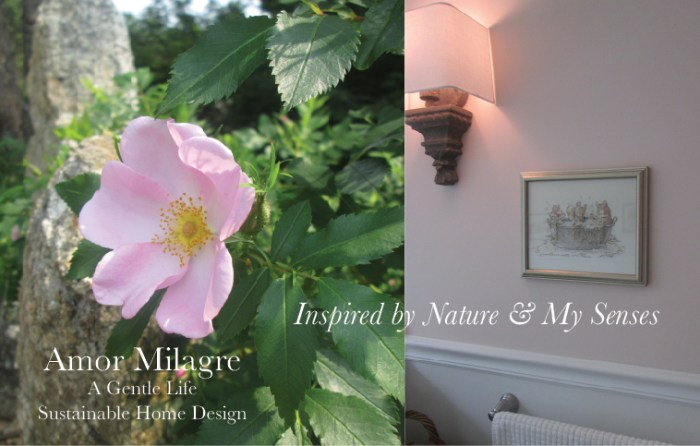 Amor Milagre Custom Built Home Interior Design Moments Goodnight, Dove Cottage 2019 Ethical Organic bathroom rose nude pink amormilagre.com