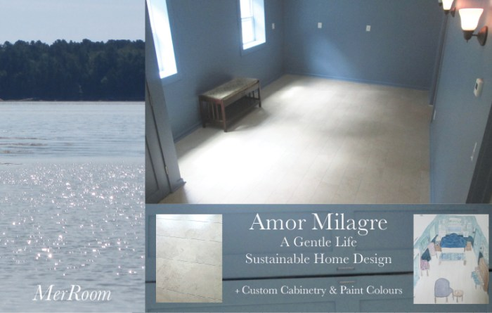 Amor Milagre Custom Built Home Interior Design Moments Goodnight, Dove Cottage 2019 Ethical blue mermaid living room ocean amormilagre.com
