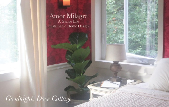 Amor Milagre Custom Built Home Interior Design Moments Goodnight, Dove Cottage 2019 Ethical red wallpaper bedroom amormilagre.com