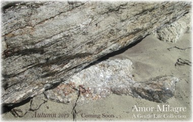 Shop Homepage Autumn 2019 Collection Amor Milagre beach natural stones rocks ocean
