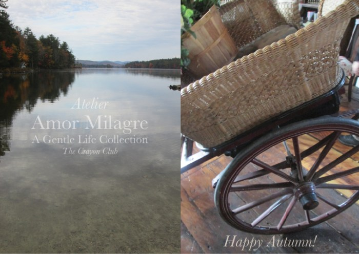 Amor Milagre Happy Halloween Autumn Lake Mountain Antique carriage cart Design 2019 Ethical Organic Gift Shop Handmade Gift Shop Art Baby Child amormilagre.com