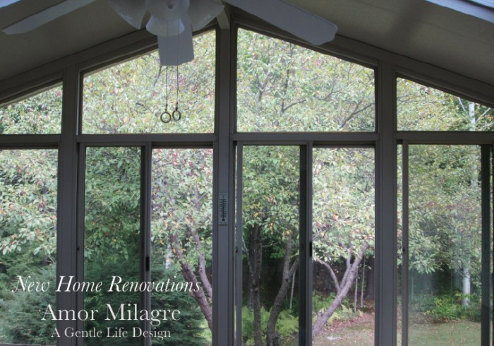 Amor Milagre New Home Renovation Design Diaries 1st Dusty Days 2019 Ethical Organic Gift Shop Handmade Gift Shop Art greenhouse sunroom trees amormilagre.com