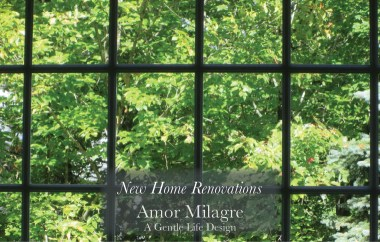 Amor Milagre New Home Renovation Design Diaries 1st Dusty Days 2019 Ethical Organic Gift Shop Handmade Gift Shop Art large windows green trees amormilagre.com