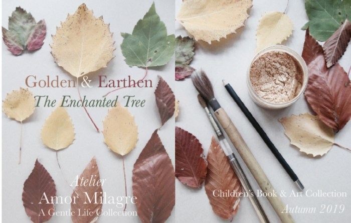 Amor Milagre Shop Golden & Earthen The Enchanted Tree New Children's Book & Art Collection Coming Autumn 2019 Fall Leaves amormilagre.com