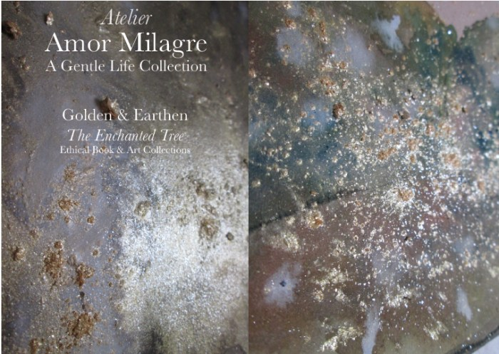 Amor Milagre Shop Golden Lightning Storm Golden & Earthen The Enchanted Tree New Children's Book & Art Collection Autumn 2019 Green Gold Detail amormilagre.com